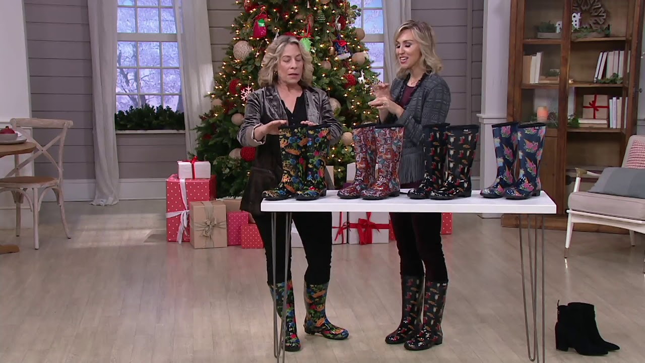 Stride By Sloggers Waterproof Tall Fashion Rainboots On Qvc Youtube