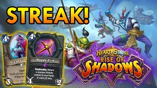 WIN STREAK AGAIN WITH WAGGLE ROGUE?! | Tempo Rogue | Rogue Deck | Rise of Shadow | Hearthstone