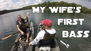 A Trip To Middle Tennessee - My Wife Catches Her First Bass