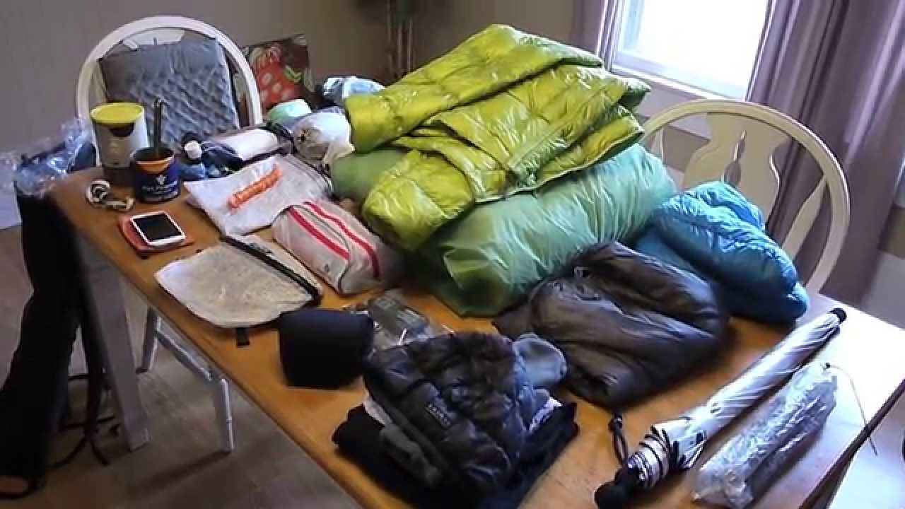 Gear for a 3 Day Backpacking Trip - YouTube