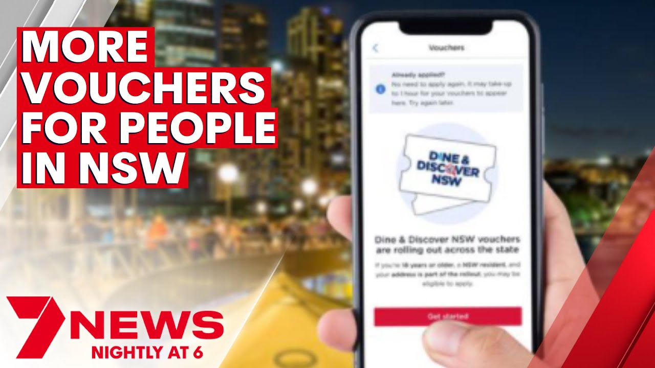 More Dine \u0026 Discover vouchers to be distributed to people in NSW | 7NEWS