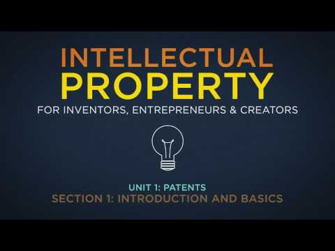 Lecture 1: The Foundations of Patent Protection