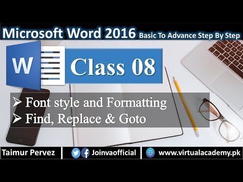 Microsoft word training | Font style & Formatting | Find, Replace, & Goto. 08 thumbnail
