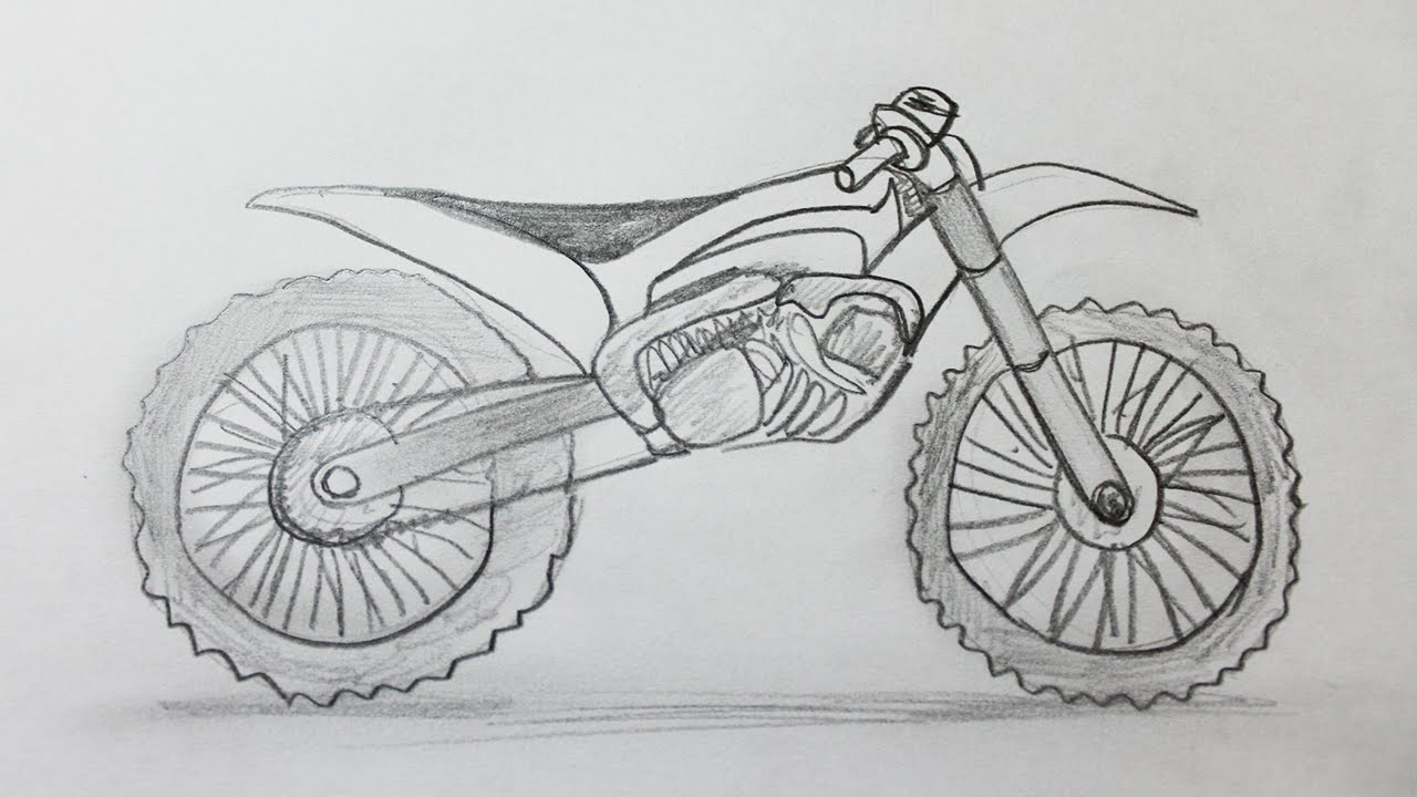 Como dibujar una moto de cross  YouTube