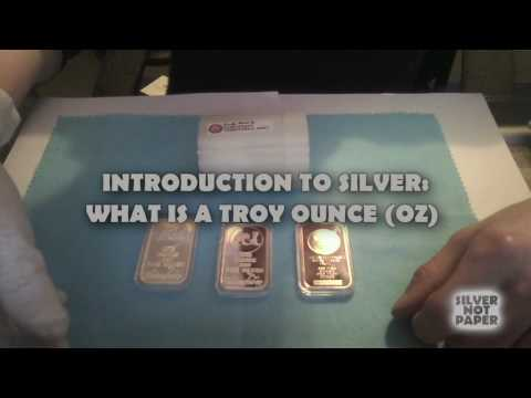 Introduction to Silver : What Is a Troy Oz / Troy Ounce?