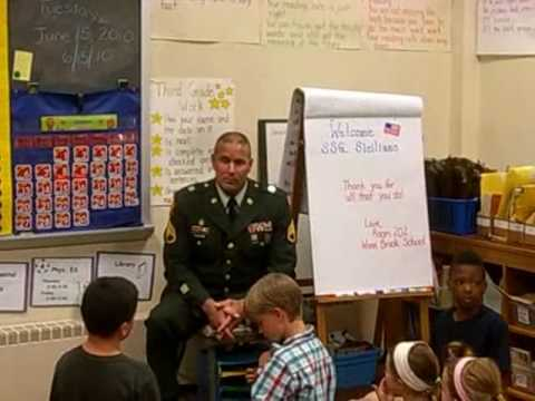 Iraq War veteran visits Winn Brook