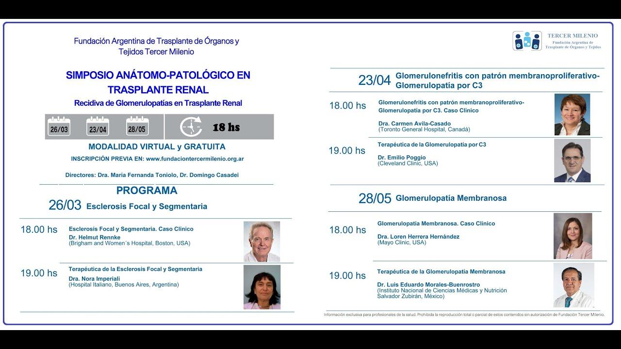 SIMPOSIO ANATOMO PATOLÓGICO EN TRASPLANTE RENAL
