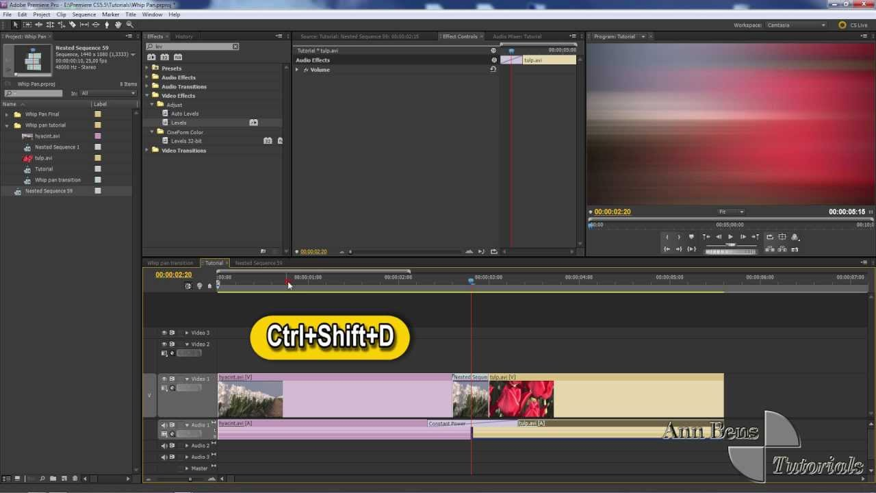 Whip (swish) pans in After Effects & Premiere [updated] by