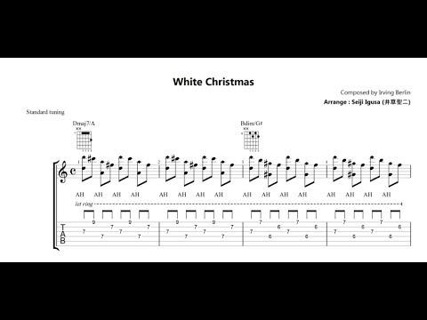 Jazz Guitar - White Christmas - Chord Melody - Chords HDビデオ