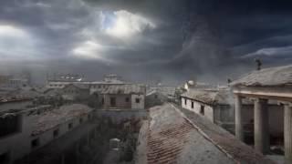 Recreación de la destrucción de Pompeya