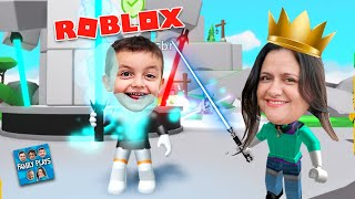 Mother Family Queen of lightsaber at Roblox Saber SIMULATOR-Family Plays