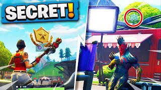 Fortnite: Season 4 WEEK 6 HIDDEN Battlestar Location! FREE Battle Pass Tier (Secret Blockbuster #6)
