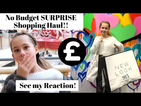 SURPRISE NO BUDGET BIRTHDAY HAUL AT NEW LOOK'S FIRST EVER GIRLS STORE!