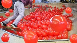 1000 воздушных ШАРОВ VS. Скейт-Парк / BMX, Skateboarding in 1000 Balloons