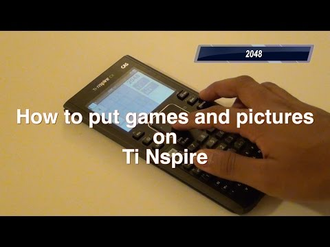 How to transfer games and images to ti nspire cx/cas