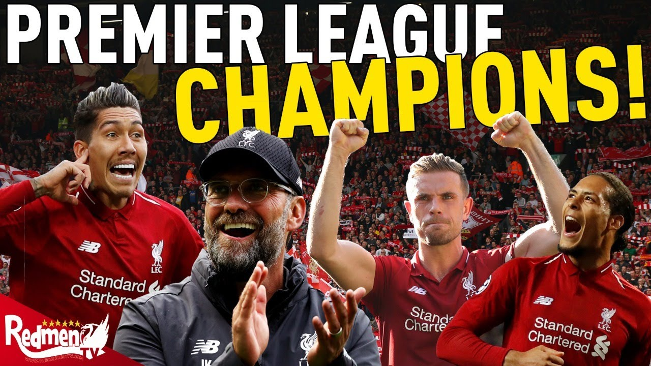 LIVERPOOL ARE THE PREMIER LEAGUE CHAMPIONS! - YouTube