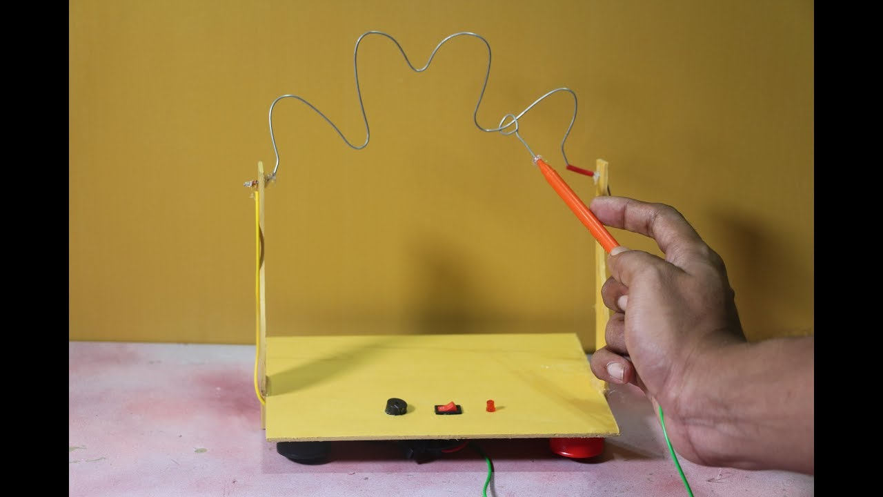 Make A Simple Electric Buzzer How To Game For Kids Challenge Yourself Youtube