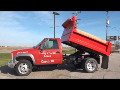 Lot 4026 1997 Chevy 3500 Dump Truck (84,000 miles), diesel