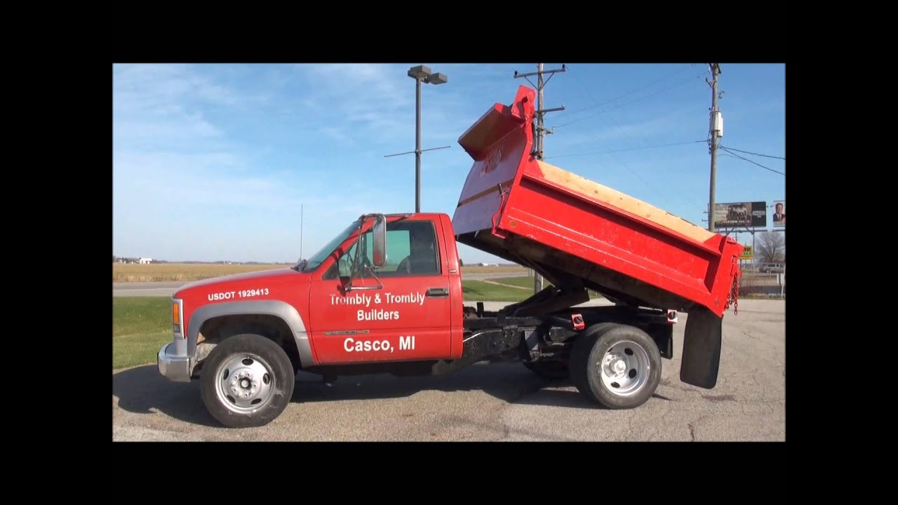 All Chevy 1997 chevy 3500 specs : Lot 4026 1997 Chevy 3500 Dump Truck (84,000 miles), diesel - YouTube