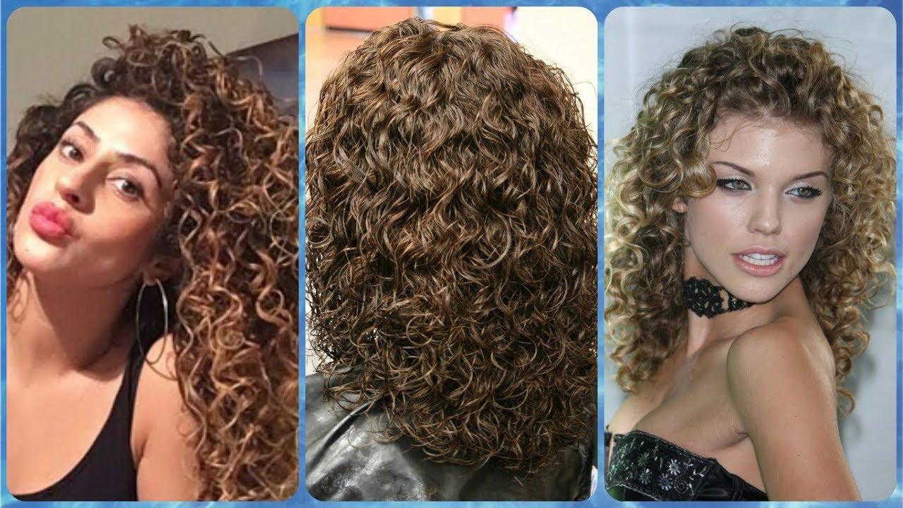 20 popular ideas for permanent curls for long hair