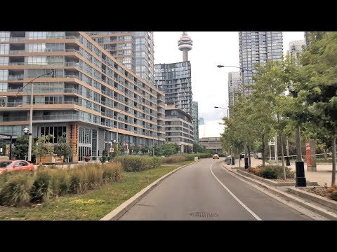 Driving Downtown 4K - Toronto's Sports Street - Canada