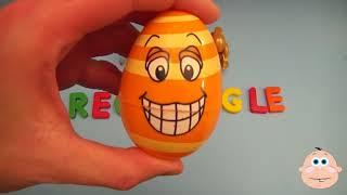 Детское Удивление Яйцо Узнать Слово! Орфографические Игровые Формы! Урок 9 (Преподавание Букв, Откр
