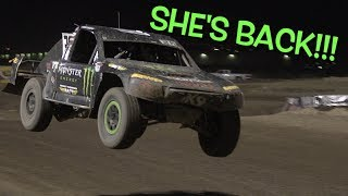 HAILIE DEEGAN BACK IN HER RACE TRUCK!!!
