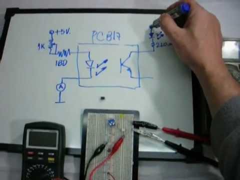 Circuito Optoacoplador : Ensayo dinámico de un optoacoplador youtube
