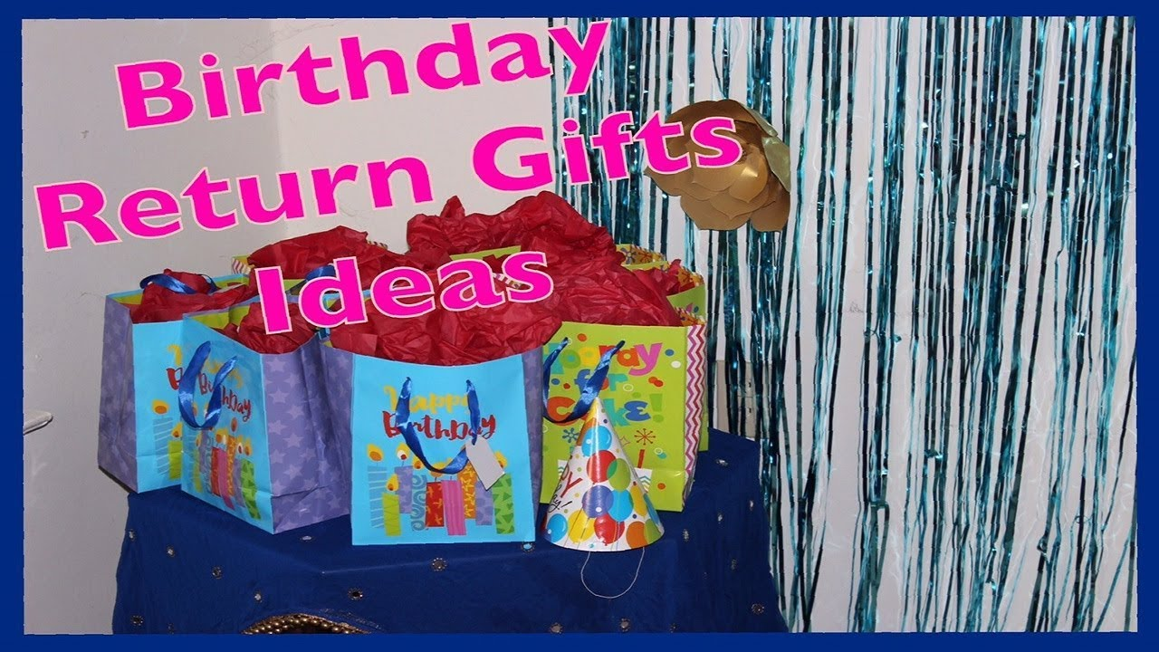 Birthday Party Return Gift Ideas For Kids Goodie Bags Bday Preparation