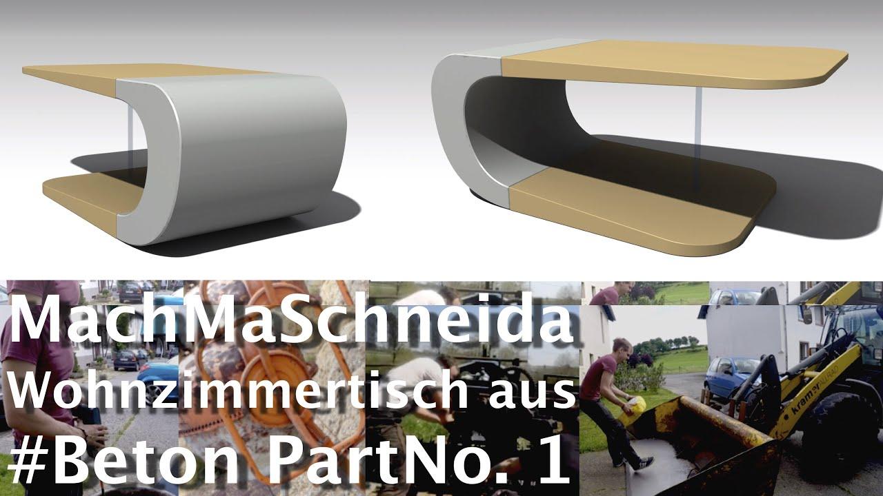 MachMaSchneida | Wohnzimmertisch aus #Beton PartNo. 1 | HD ◅ Stefan ...