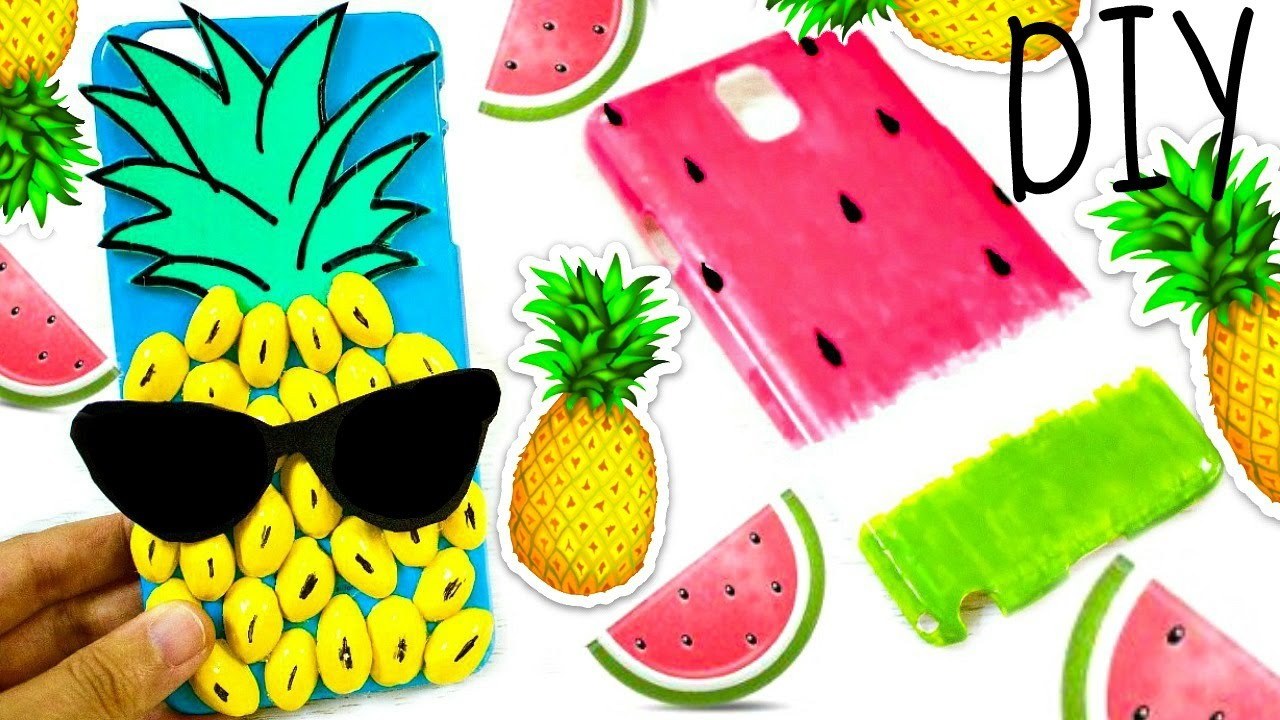 the latest a2481 6b45a DIY Fruit Phone Cases: Pineapple & Watermelon