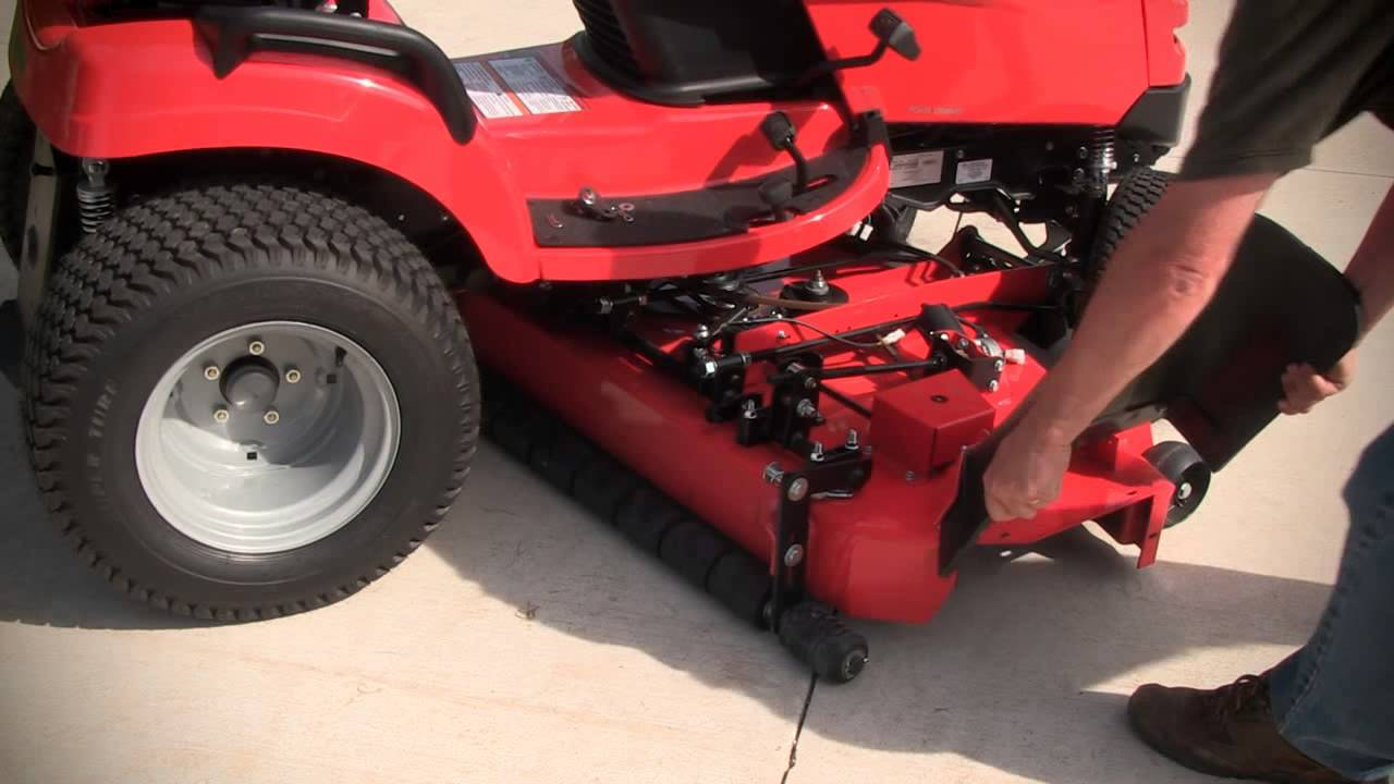medium resolution of how to removing a mower deck with simplicity quick hitch
