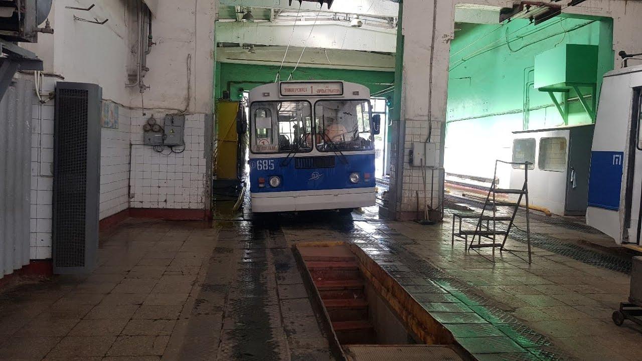 Рабочий день. Техосмотр троллейбуса. Почти разбил камеру | Троллейбус ЗиУ | Чебоксары