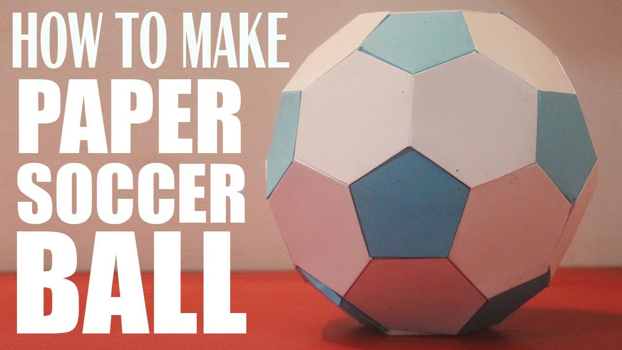 HOW TO MAKE A PAPER FOOTBALL - YouTube