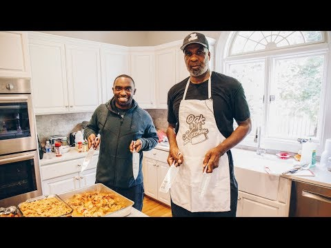 Thanksgiving Meal Prepping with Charles Oakley in the Kitchen | Random Fandom