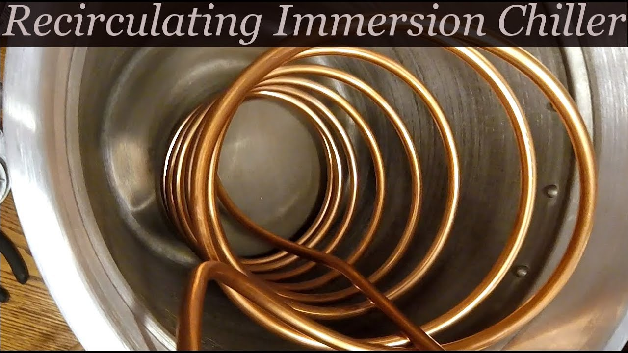 recirculating immersion wort chiller