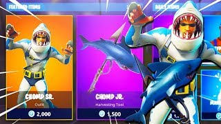 *NEW* Fortnite Chomp Sr Skin Gameplay!!! (Fortnite: Battle Royale)