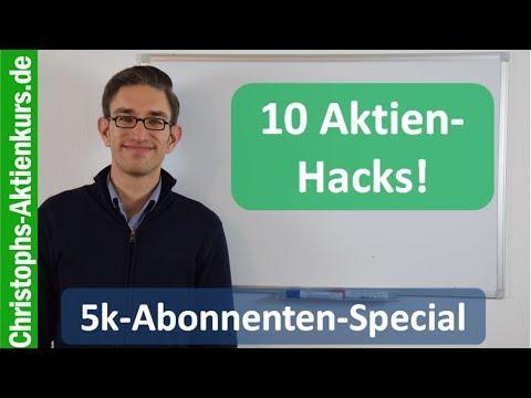 5k Abonnenten Special - 10 wichtige Aktien Hacks!