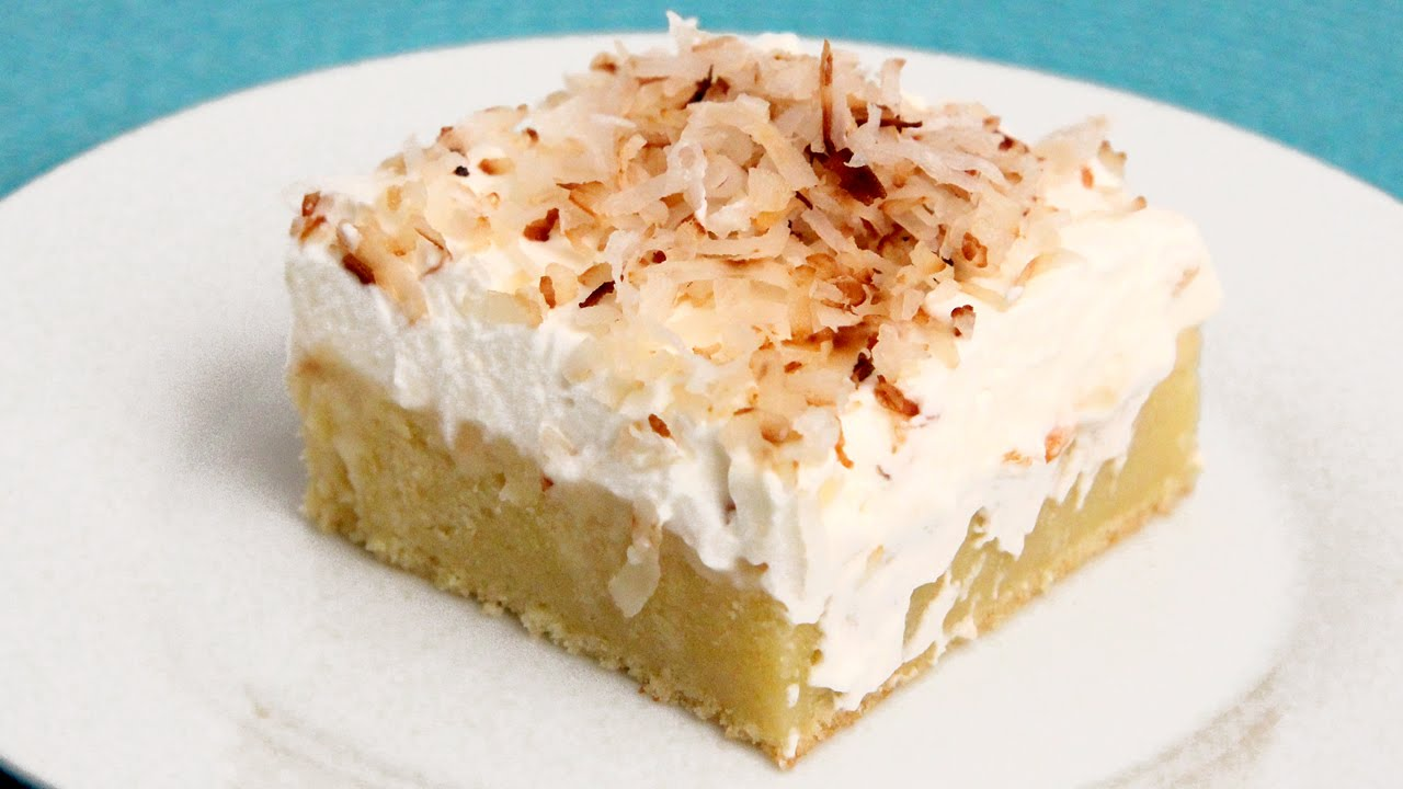 Coconut Tres Leches Cake Recipe - Laura Vitale - Laura in the Kitchen ...