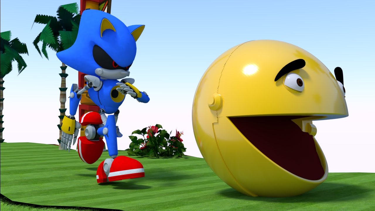 Sonic chases after Pacman