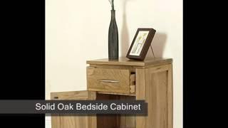 Cambridge Solid Oak Bedside Cabinet