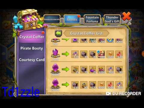 Castle Clash: $188 = Buy Out Crystal Coffer = 50k Gems To Roll Ripper