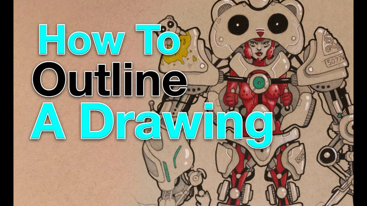 how to outline a drawing - Outline Pictures For Drawing