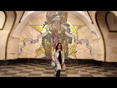 Amazing murals, chandelier and sculptures only found in Moscow subway.