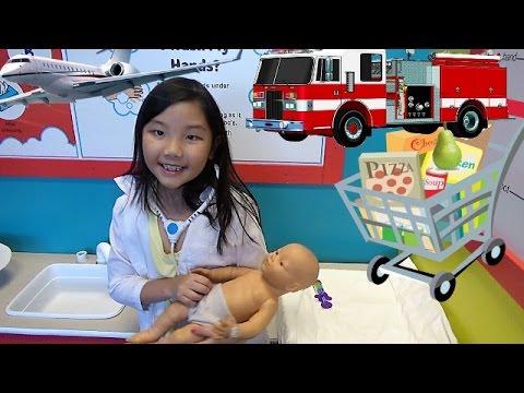 Fun Children's Museum Kids Hospital Kids Drive Airplane Fire Truck