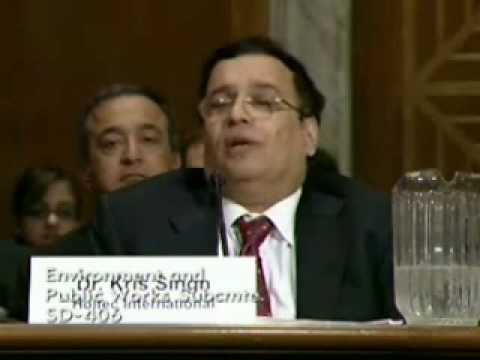 Testimony by Kris Singh in front of Senate Subcommittee on Clean Air and Nuclear Safety