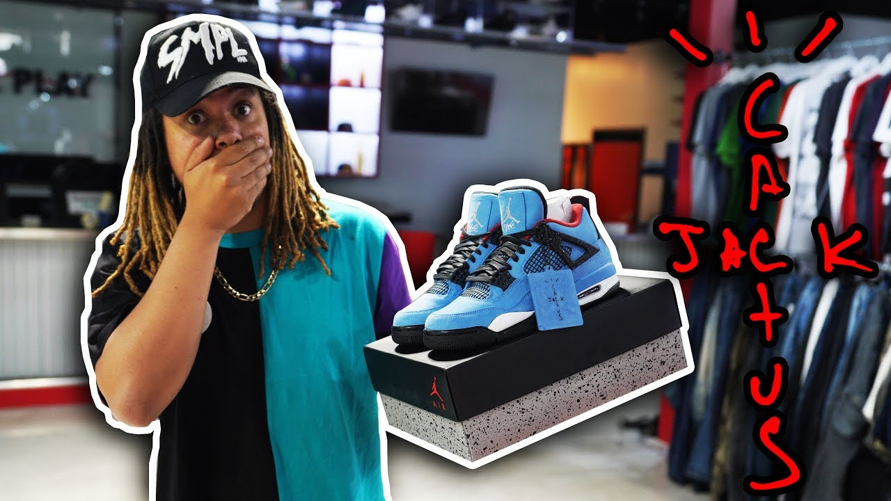 best service d8bfa 8050d FIRST LOOK AT THE UPCOMING JORDAN 4 TRAVIS SCOTT CACTUS JACK !!!