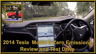 Virtual  Video Test Drive in the Tesla  Model S Zero Emissions