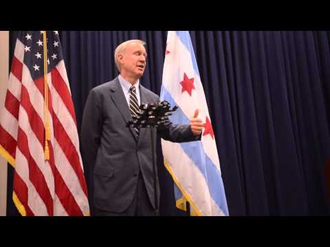 Gov Rauner , after speaking to the Chicago City Council
