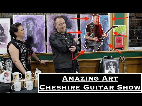 AMAZING JAMES HETFIELD ART - Pro Artist Lea Williams At The Cheshire Guitar Show